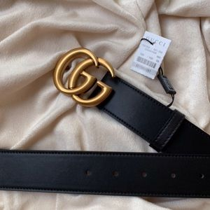 dNew Gucci Belt Äùthentíć Double G Marmot